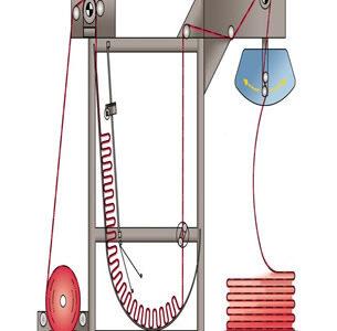 Размотка ткани из рулона в книжку с промежуточным накопителем для увеличения производительности.productivity